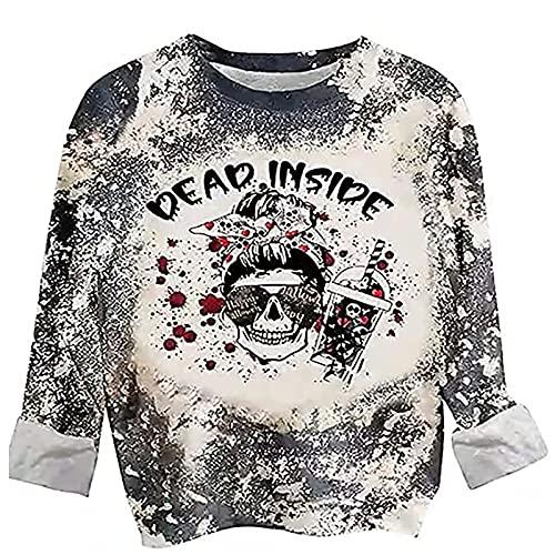 Sudadera para mujer con impresión de amor, informal, suelta, cuello redondo, camiseta de manga larga, camiseta básica para otoño e invierno, camisetas con estampado de corazones, gris, XL