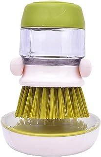 Wshizhdfu 1PC تنظيف فرش طبق أداة غسل الصابون موزع مقلاة قابلة لإعادة الملء أكواب الخبز وعاء أدوات المطبخ ملحقات (اللون: أخضر)