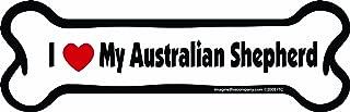 Imagine This Bone Car Magnet, I Love My Australian Shepherd, 2-Inch by 7-Inch