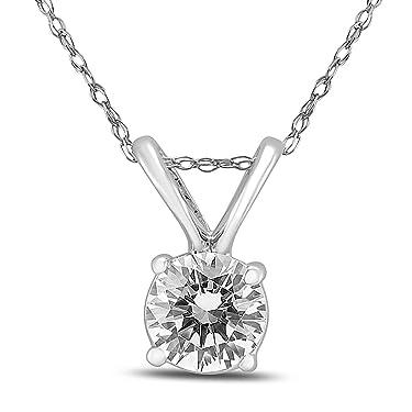 Round Diamond Solitaire Pendant (1/4 Carat - 1/2 Carat)