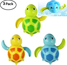 WedFeir 3pcs Bath Swimming Turtle Toy for Baby Toddler, Wind Up Chain Bathing Water Toy, Swimming Tub Bathtub Pool Cute Swimming Turtle Toys for Boys Girls.