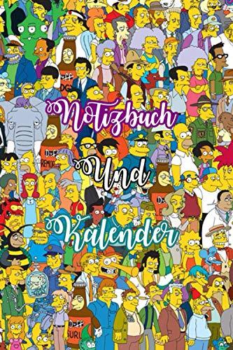 2021 Kalender Simpsons Tagebuch Notizbuch Passwort Tracker Online Shopping Tracker