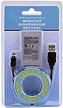 Kit Bateria P/ Controle Ps3 1800mah + Cabo Carregador Usb