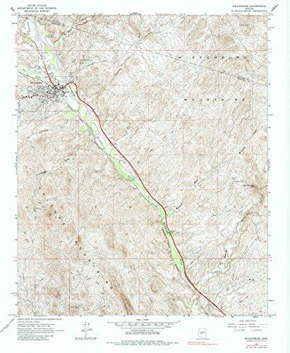 YellowMaps Wickenburg AZ topo map, 1:24000 Scale, 7.5 X 7.5 Minute, Historical, 1964, Updated 1984, 26.8 x 22 in - Polypropylene