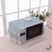 Gouen Encaje Bordado Hogar Microondas Cubierta de Horno Decoración Accesorios Protección a Prueba de Polvo Campana de Comedor Anti Aceite Simple Moderno, Azul