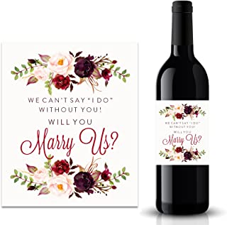 Will you Marry Us Wine Label, We Can't Say I Do Without You Wine Label (FPS0050)