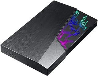 ASUS FX外付け2.5インチ HDD FX HDD (EHD-A1T) Aura Sync RGB/USB 3.1 /256ビット / AES暗号化/自動バックアップ
