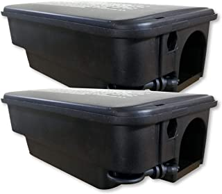 2 Cajas de plástico con cierre con llave - Para asegurar el veneno contra las ratas