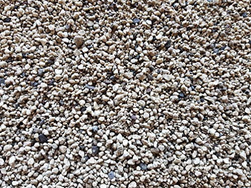 Der Naturstein Garten 25 kg (env. 32 litres) Gravier Ponce de Haute qualité 1-4 mm lavé - granulés pour Plantes - Livraison Gratuite