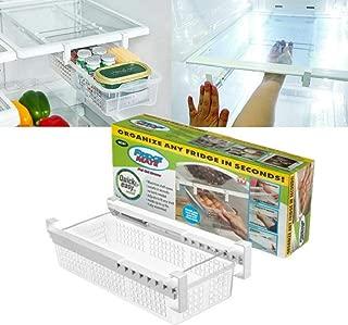 Creative Refrigerator Storage Box Fridge Mate Drawers Layer Storage Rack Refrigerator Pull Out Bin Organizer Fresh Spacer Egg storage Box (Style 1)
