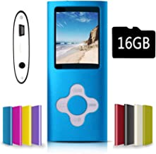 G.G.Martinsen Blue with White Versatile MP3/MP4 Player with a Micro SD Card, Support..