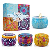 Yinuo Candle Scented Candles Gifts Set for Women,Portable Tin Aromatherapy Soy Candles Lavender...