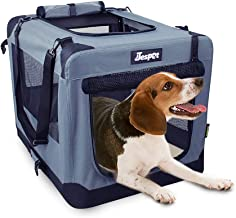 """JESPET Soft Pet Crates Kennel 26"""", 30"""" & 36"""", 3 Door Soft Sided Folding Travel Pet Carrier with Straps and Fleece Mat for ..."""