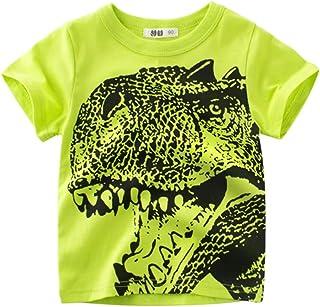 Shorts Tenues 3-24 Mois T-Shirt Gilet Ray/é Dinosaure Dessin Anim/é Gar/çons Tops wuayi  V/êtements de B/éb/é Gar/çon
