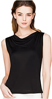 METWAY Women's Tank Tops Comfy Fit Swing Neck Silk Sleeveless Shirts