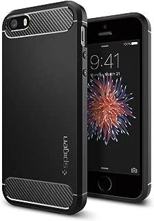 Spigen Rugged Armor Designed for Apple iPhone SE Case (2016) - Black