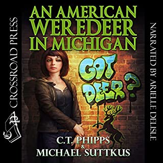 An American Weredeer in Michigan     The Bright Falls Mysteries Series, Book 2              By:                                                                                                                                 C. T. Phipps,                                                                                        Michael Suttkus                               Narrated by:                                                                                                                                 Arielle DeLisle                      Length: 9 hrs and 15 mins     54 ratings     Overall 4.6