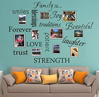 7E Colours Family Wall Decal 12 Set Words Wall Stickers Family Room Art Decoration Living Room Decor Decoration for Home Decor