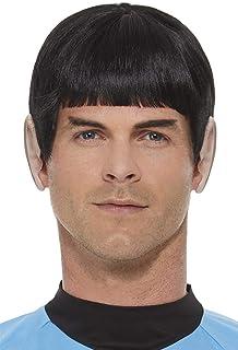 Smiffys 52344 Officially Licensed Star Trek, Original Series Spock Wig, Men, Black, One Size