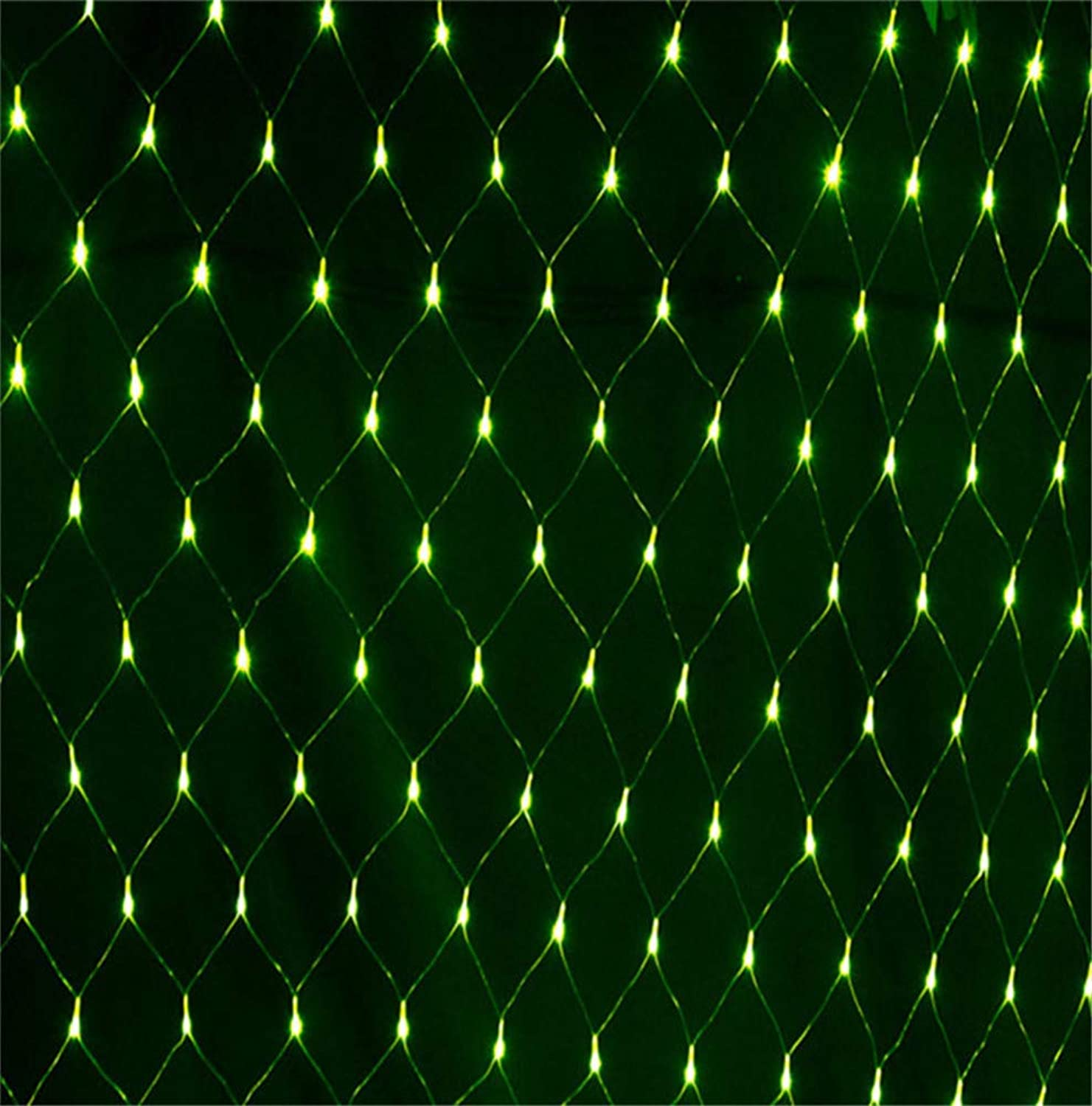 MR.MO Net Mesh Fairy Light, Weihnachtsgarten Wasserdichte Dekorative Lichter, Urlaub Hochzeit Mesh Hintergrundbeleuchtung, LED 6  4 M 880 Lichter, Grüne Lichter