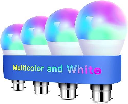 Alexa Light Bulbs WiFi Smart Bulbs B22 Bayonet [4 Pack] Compatible with Echo Alexa Google Home Dimmable Warm Light an...