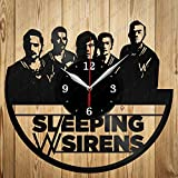 Vinyl Clock Sleeping with Sirens Art Decor Home Wall Clock Black Original Gift Unique Design