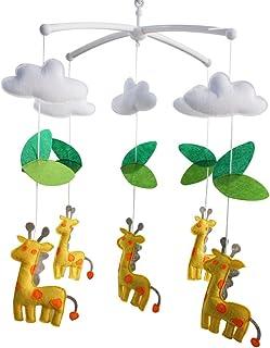 Girafe Décoration de lit de bébé Cadeau nouveau-né Mobile musical en