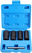 """SENRISE 5 szt. 17-22 mm odkręcacz śrub zestaw gniazd do śrub do blokowania nakrętek kół lub uszkodzonych śrub (1/2"""")"""