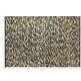 Festnight Alfombra de Yute Rectangular 120 x 180 cm Azul y Natural Alfombra Tejida a Mano de Yute Trenzado y Algodón