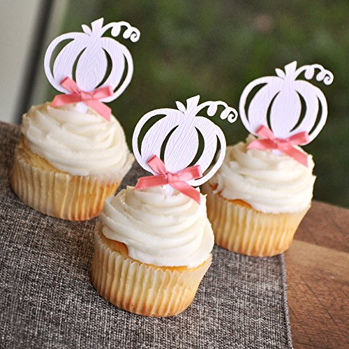 Pumpkin Woodgrain Cupcake Toppers. Fall Wedding Cupcake Toppers. Halloween Cupcake Toppers. Set of 12.