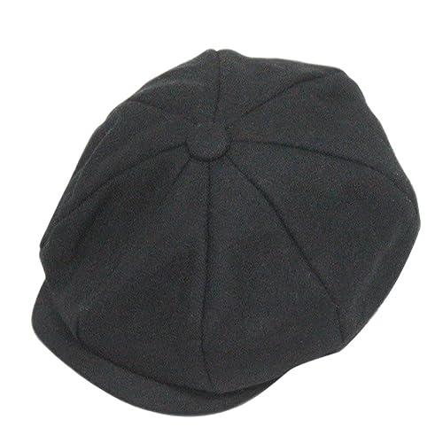 dd18b9e0b33de Fakeface Classic 8 Panel Wool Tweed Newsboy Gatsby Ivy Cap Golf Cabbie  Driving Hat