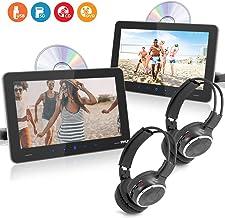 Universal Car Headrest Mount Monitor - Smart 9.4 Inch Vehicle Multimedia DVD Player - Dual Audio Video Entertainment w/Hi-...