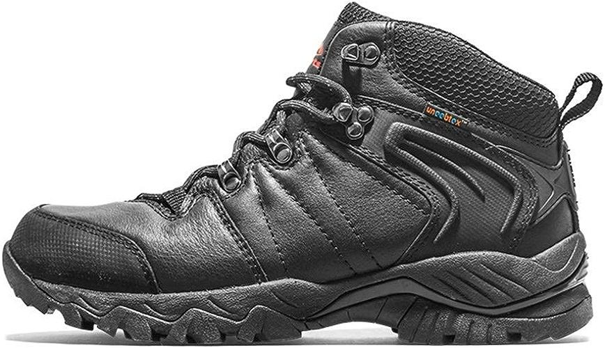 DSX Chaussures de Randonnée Femmes Hommes Bottes de Randonnée Noir Chaussures de Randonnée en Plein Air Baskets Imperméables, Noir, 7UK