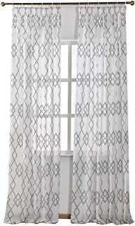 NAPEARL Faux Linen Semi-Sheer Curtain Panel Set of 2 Pieces (52