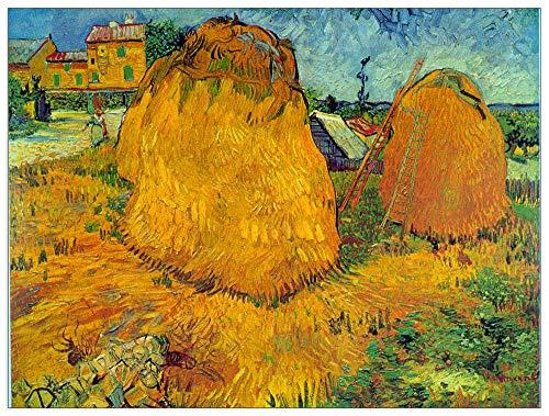 ArtPlaza Van Gogh Vincent-Haystacks Panel Decorativo, Madera MDF, Multicolor, 80x60 Cm