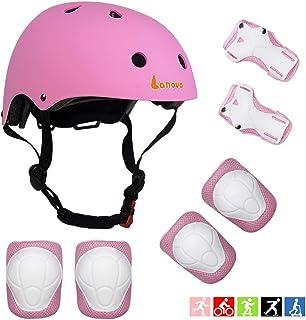 Lanova Toddler Helmet Kids Knee Pads for 3-8 Years Toddler Youth Bike Skateboard Helmet Knee Elbow Wrist Pads for Roller Bicycle Bike Skateboard and Other Extreme Sports Activities