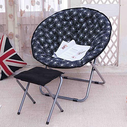 SPFOZ Haus Dekoration Faules Sofa Bequemer tragbarer Faltbarer weicher Single-Stuhl weich, liegend Freizeitstuhl faltbar waschbar nach Hause mit Fuß (Color : C1)