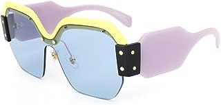 Semi Rimless Sunglasses For Women Trendy Candy Color Designer Glasses