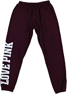 Victoria`s Secret Pink Sweatpants Classic Fit Graphic Logo Pant