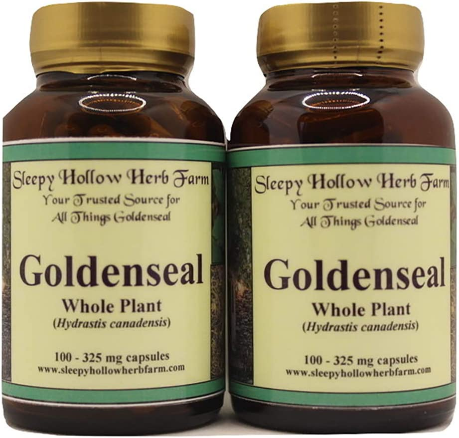 Goldenseal Whole online shopping Plant Capsules Ranking TOP5 Canadensis 100-325mg Hydrastis