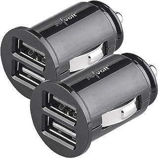 reVolt USB Adapter 12 Volt: 2er Set kompakte Kfz USB Ladegeräte mit je 2 Lade Ports, 4,8 A (Kfz Stecker)