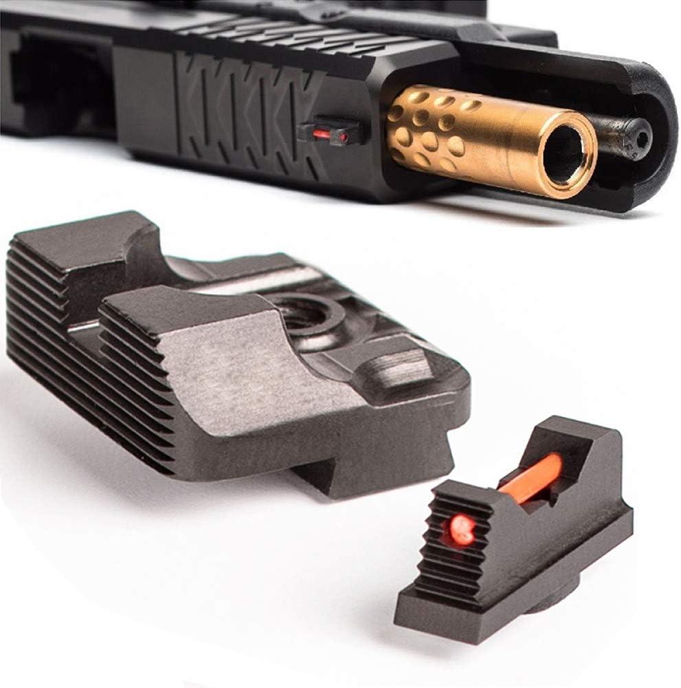 Low price Higoo Tactical Fiber Optic Handgun Pistol Rear C Sight Front Manufacturer direct delivery Set