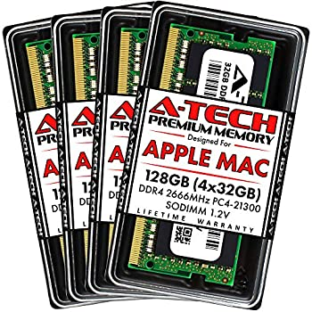 A-Tech 128GB  4x32GB  RAM for Apple iMac 2019 & 2020 27 inch Retina 5K   DDR4 2666MHz SODIMM PC4-21300 2Rx8 1.2V 260-Pin SO-DIMM Memory Upgrade Kit