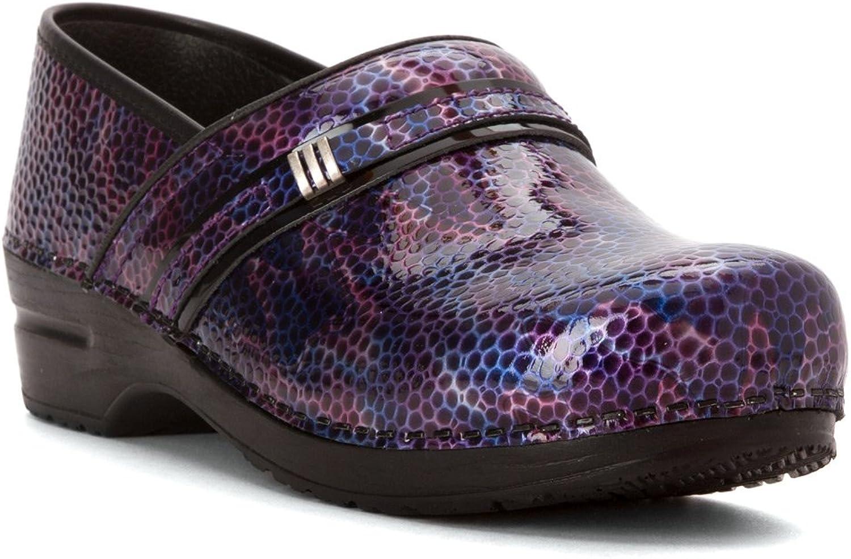 Sanita Women's Original Emory Clogs, Purple Leather, Polyurethane, 36 M EU, 5.5-6 M