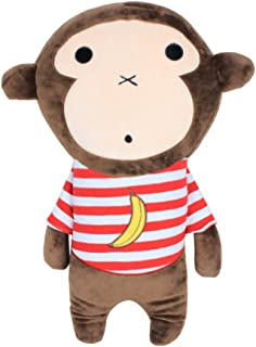 Apomelo Cute Monkey Car Seat Belt Pillow for Kids Adjustable Seat Strap Shoulder Pads,Neck Support Pillow for Travel Seatb...