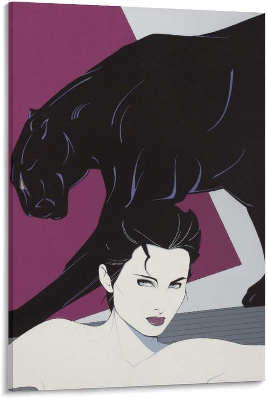 SALENEW very popular! YANGNA Patrick Nagel Women with Finally popular brand Panther Art Poster Wall Canvas D
