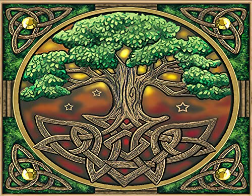 Paint by Numbers Kits Gift DIY ,Iconic Mark of Celtic Tree of Life Abstract S,Acrylic Painting for Kids Students Beginner Adults Arts Craft for Home Decor 20 x 16 inches