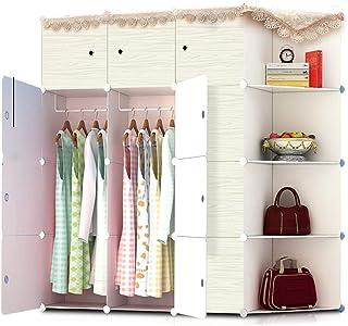 Penderies repliables Chambre Décoration de grande capacité Armoire Style simple vêtements imperméable Placard armoire modu...