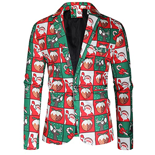 Christmas Tuxedos for Men Light Suit Separates - Holiday Blazer for Party