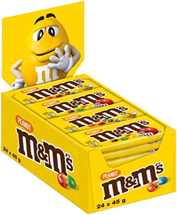 M&m`s confetti al cioccolato contenenti arachidi, 24 pezzi x 45 g B06W9NYRDC